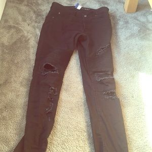 High fashion ripped skinny jeans For Men